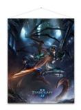 Starcraft: Wallscroll - Kerrigan and Nova