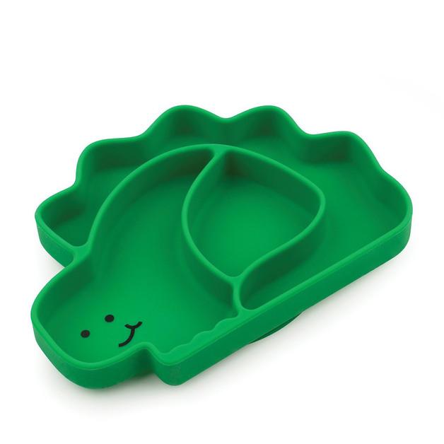 Bumkins: Silicone Grip Dish - Dinosaur