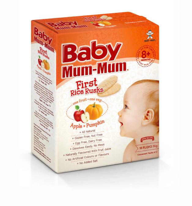 Baby Mum Mum: First Rice Rusk - Apple & Pumpkin (36g)