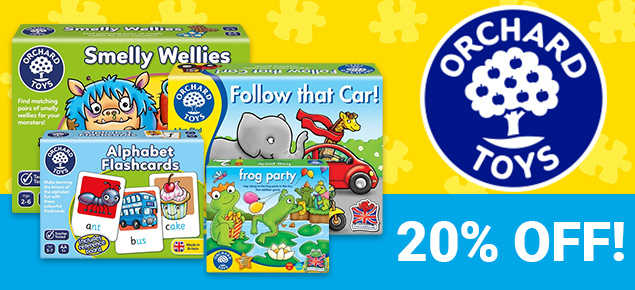 20% off Orchard Toys!