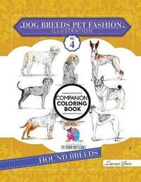 Dog Breeds Pet Fashion Illustration Encyclopedia Coloring Companion Book by Laurren Darr