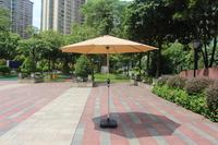 Beige Outdoor Aluminium Market Umbrella with Crank Handle - 2.7M image