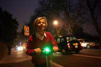 Mini Hornit Electronic Bike Bell & Light (Purple Pink) image