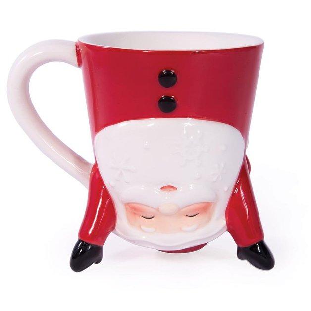 Bottoms Up Santa Mug