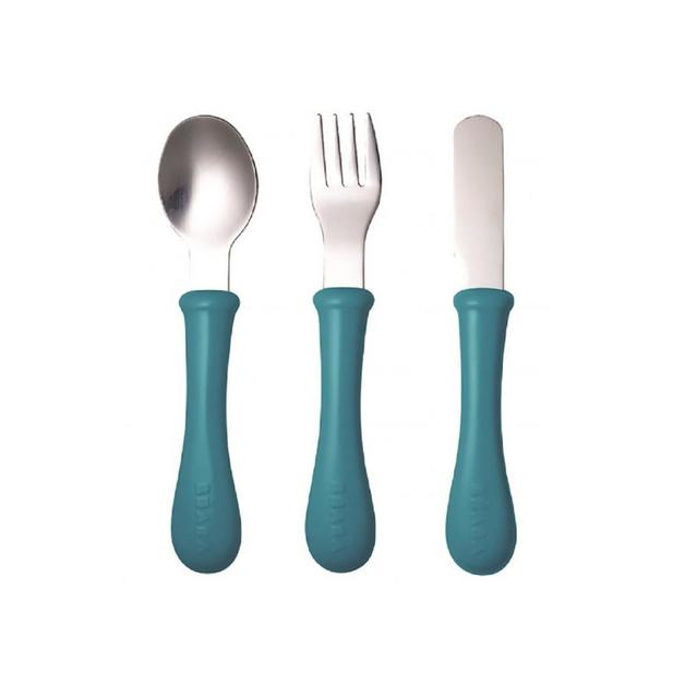 OXO Tot: Stainless steel training cutlery Knife / Fork / Spoon - Blue
