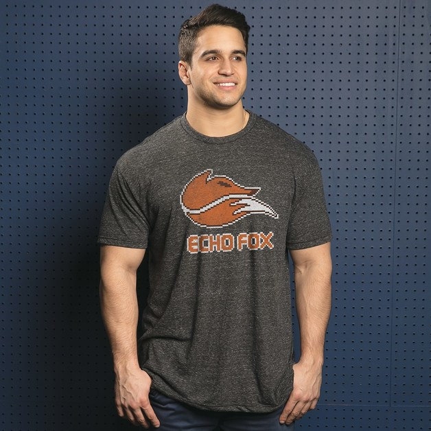 Echo Fox Weathered 8 Bit Logo Premium Tee (XXX-Large)
