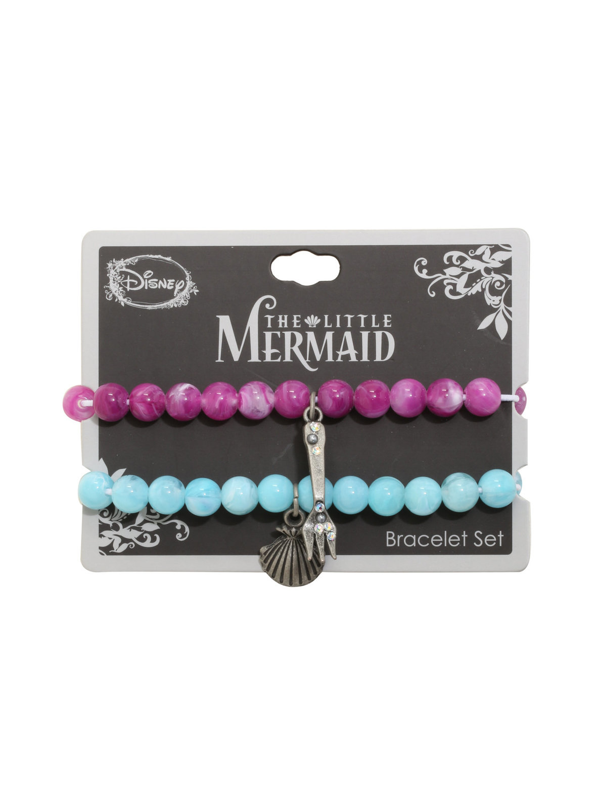 Neon Tuesday: The Little Mermaid - Shell And Fork Bracelet Set image