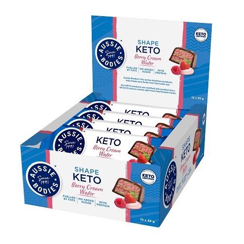 Aussie Bodies: Keto - Berry Cream Wafer (12 x 35g)