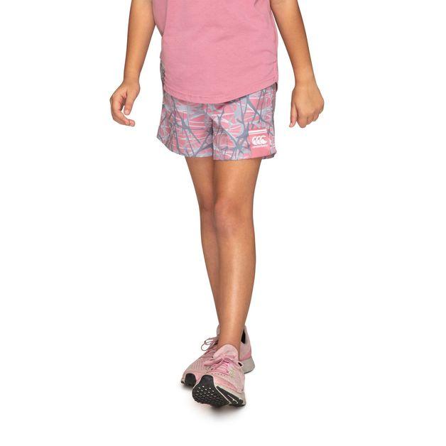 """Canterbury: Girls Camo Tactic Shorts 4.5"""" - Foxglove (Size 10)"""