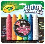 Crayola - 6 Glitter Sidewalk Chalk
