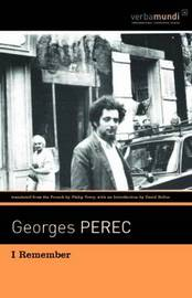 I Remember by Georges Perec