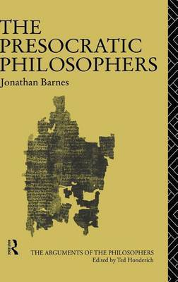 The Presocratic Philosophers by Jonathan Barnes image