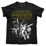 Star Wars Men's Tshirt - Black 2X-Large