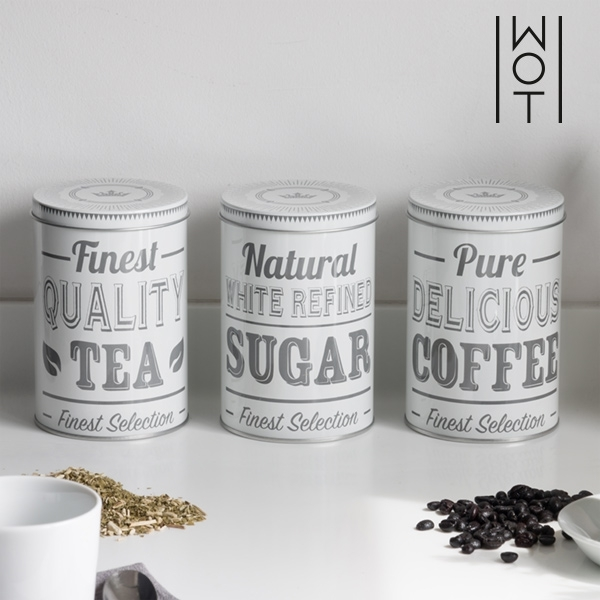 Retro Metal Kitchen Containers (Set of 3)