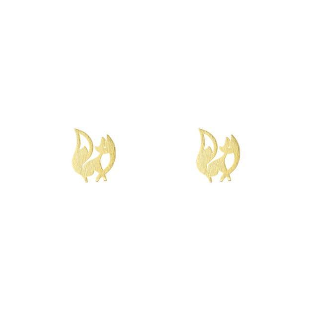 Short Story: Charming Fox Earring - Gold