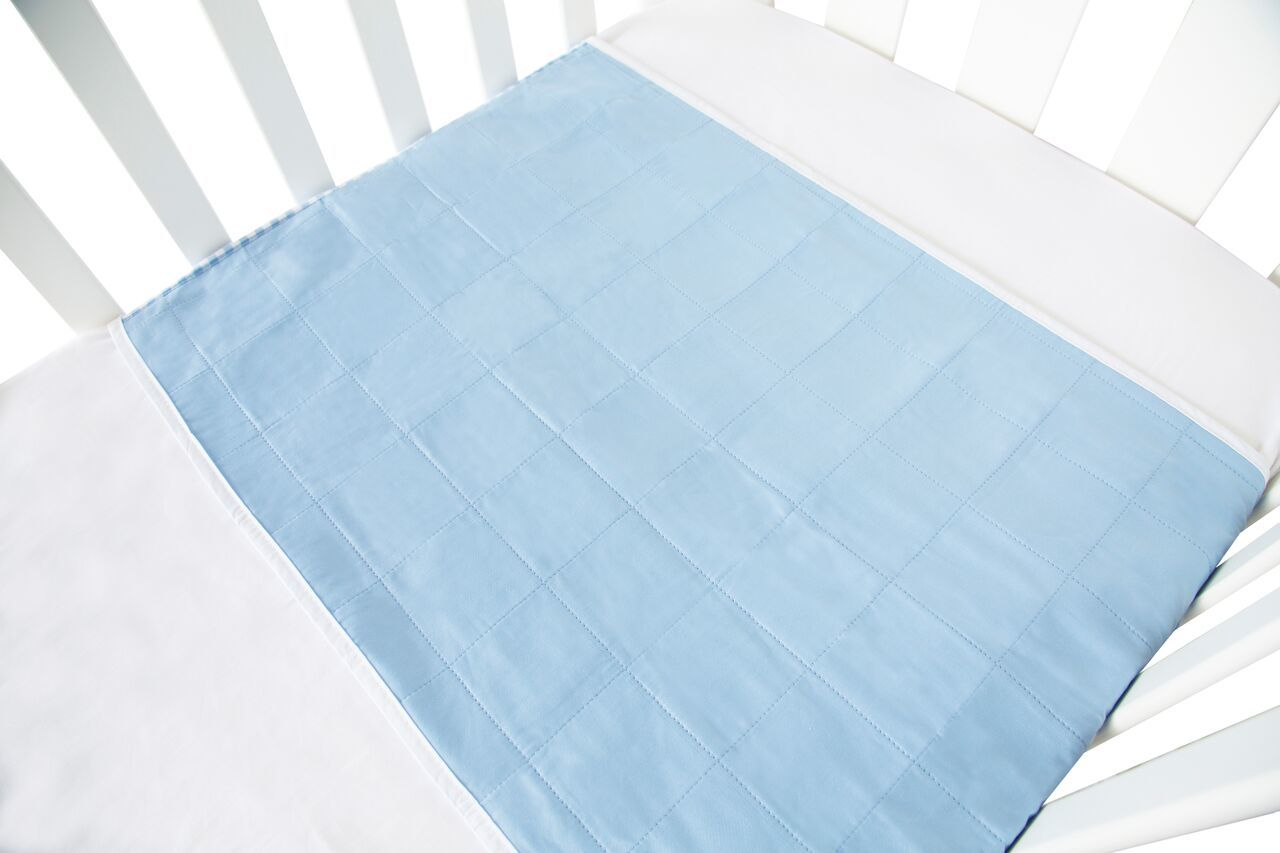 Brolly Sheet Cot Pad with Wings - Blue image