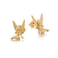 Disney Tinker Bell Sitting Earrings - Yellow Gold