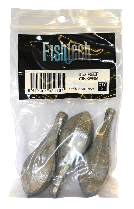 Fishtech Reef Sinkers 4oz (3 per pack)