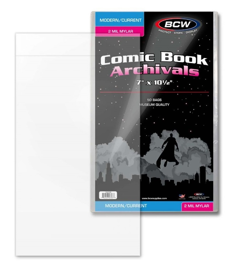 BCW: Comic Book - 2-mil Mylar Archivals (Current/Modern) image