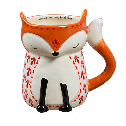 Natural Life: Ceramic Folk Mug - Wherever Fox