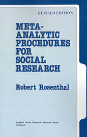 Meta-Analytic Procedures for Social Research by Robert Rosenthal image