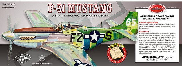 P51D Mustang 1:16 Balsa Model Kit