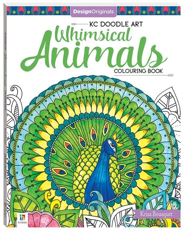 Design Originals Whimsical Animals Colouring Book by Hinkler Books Hinkler Books