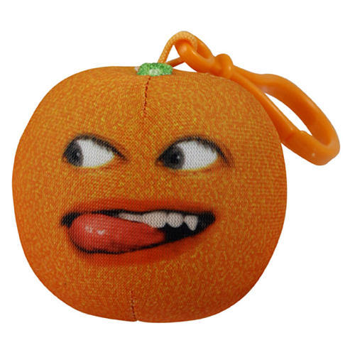 Annoying Orange Talking Plush Keyring / Clip-on - Nyah Nyah Orange image