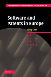 Software and Patents in Europe by Philip Leith