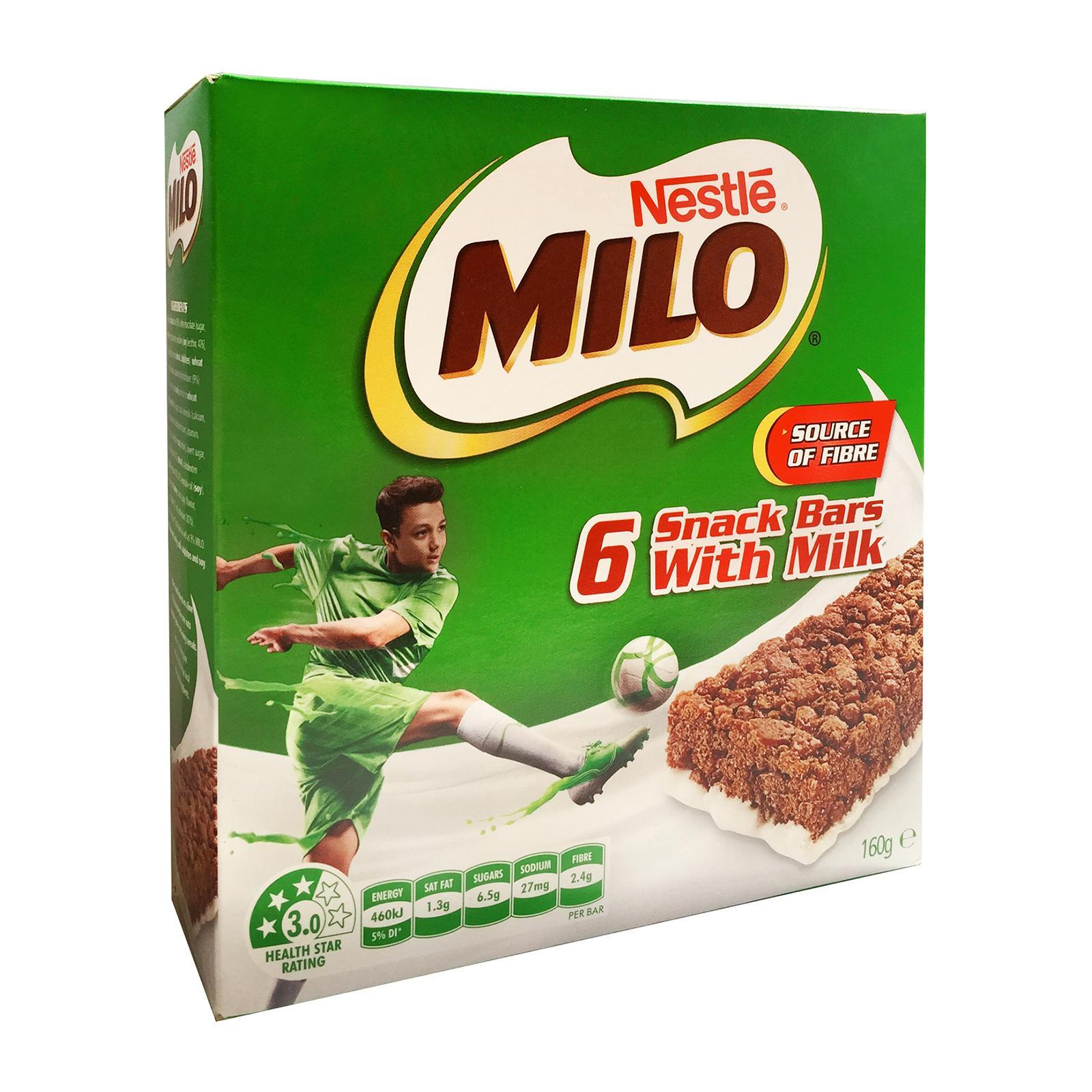 MILO Snack Bars With Milk (6 Pack) image