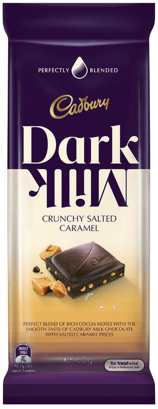 Cadbury Dark Milk Crunchy Salted Caramel (150g)
