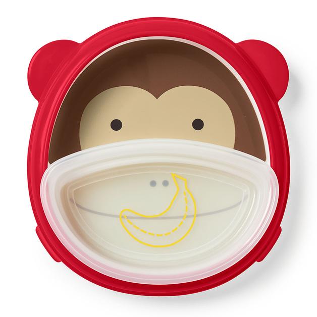 Skip Hop: Zoo Smart Serve Plate & Bowl - Monkey