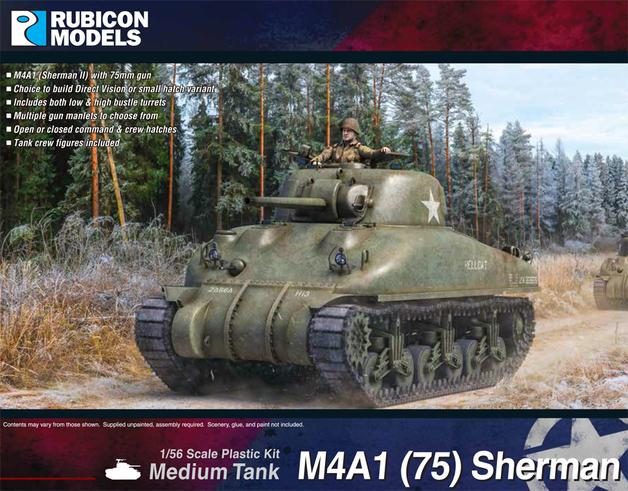 Rubicon 1/56 M4A1(75) Sherman - DV & SH