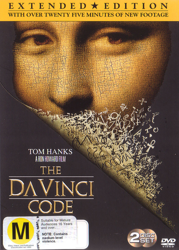 The Da Vinci Code - Extended Edition on DVD image