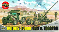 Airfix Bofors 40mm Gun & Tractor 1:76 Model Kit
