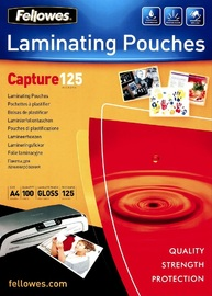 Fellowes Laminating Pouch 125 Micron A4 (100 Pack)