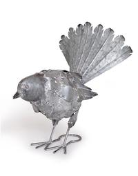 Free Range Fantail - Silver Large Metal (31X26cm)