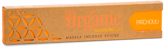 Organic Masala Incense Sticks - Patchouli (15g)