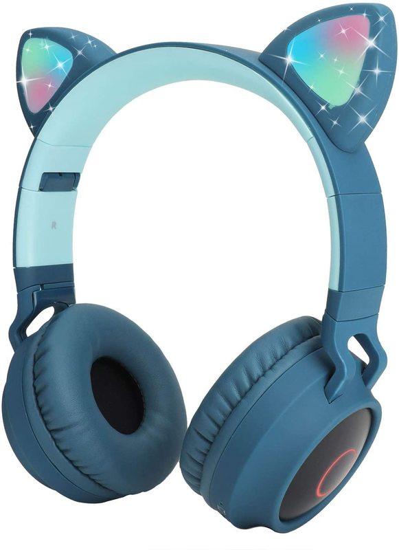 Cat Ears: Bluetooth Wireless Headset - Blue