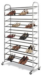 Whitmor: Chrome Supreme 50 Pair Shoe Rack
