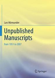 Unpublished Manuscripts by Lars Hormander