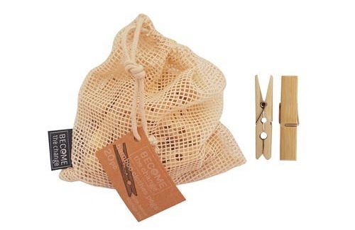 Become The Change: Bamboo Clothes Peg Set image