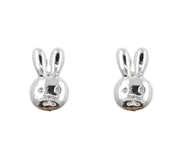 Short Story: Bunny Bubble Earring - Silver