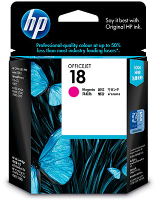 HP 18 Ink Cartridge C4938A (Magenta) image