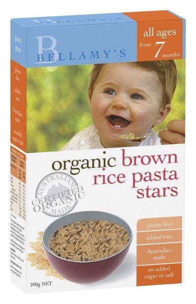 Bellamy's - Organic Brown Rice Pasta Stars (200gm)
