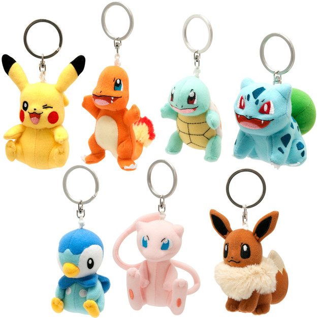 Pokemon: 9cm Plush Keychain - Assorted