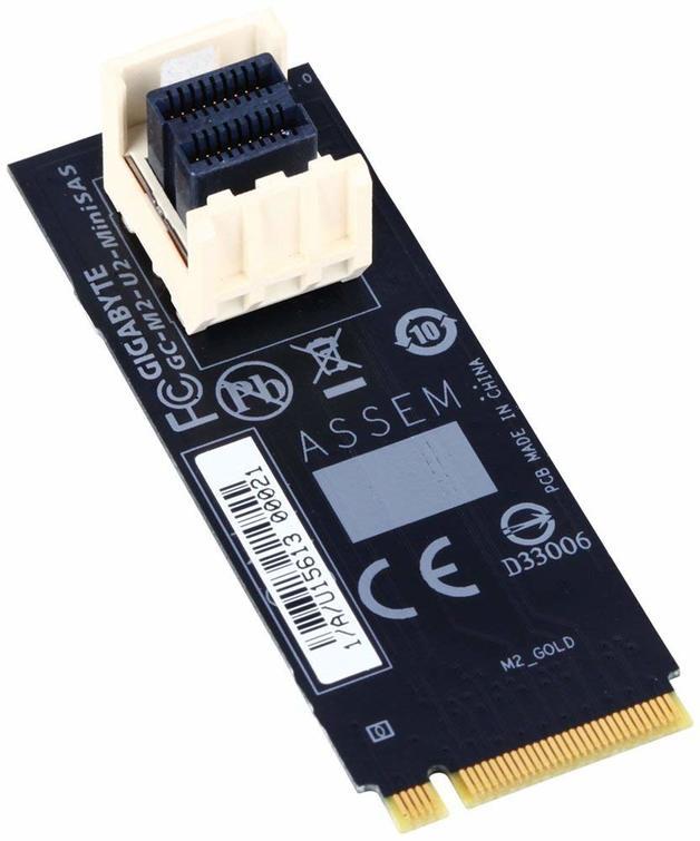 Gigabyte M.2 to U.2-Mini-SAS Add-in Card