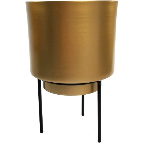 Standing Gold Metal Planter 17cm