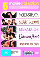 5 Movie Collection: Romance Benny And Joon / Untamed Heart / Mermaids / Moonstruck / Return To Me on DVD
