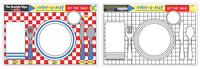 Melissa & Doug: Set the Table Colour-a-Mat